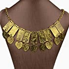 Huge Smoky Gold Plated Heart Rectangle Bib Chain Necklace Pendant