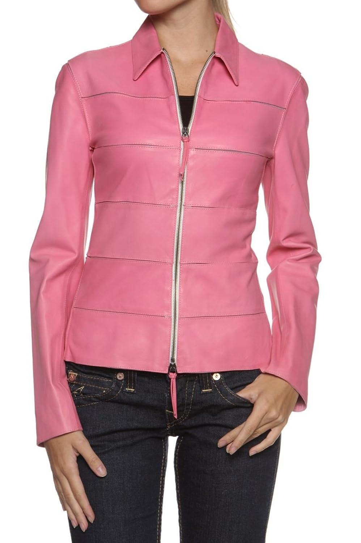 Cristiano di Thiene Damen Jacke Lederjacke IVY, Farbe: Pink kaufen