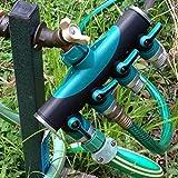 Toch 4-way Garden Hose to Hose Connector, Watering Splitter, Hose Faucet Splitter/Manifold with Built in Shut Off valve.