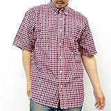 (カンゴール) KANGOL大きいサイズ ボタンダウン チェック 半袖 シャツ