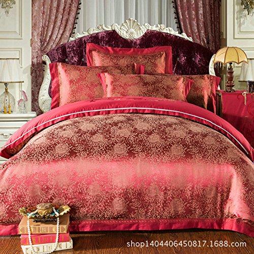 4Pc Bed Sheet Set Cotton Kasi Excellent Satin Jacquard Denim Wedding Quilt Bedding Sets front-857701