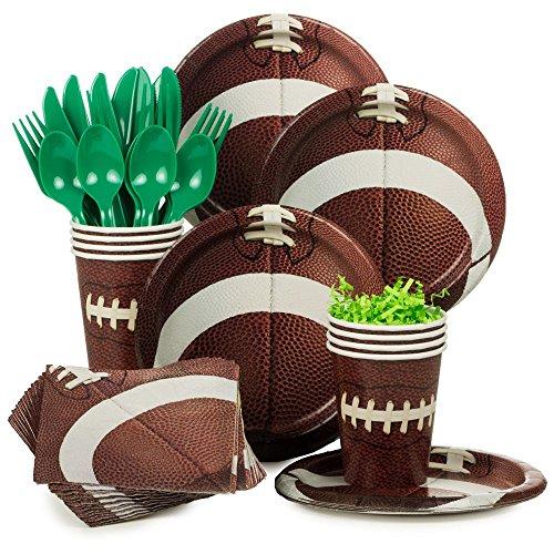 Costume-Supercenter-BBKIT1054-Football-Birthday-Party-Standard-Tableware-Kit