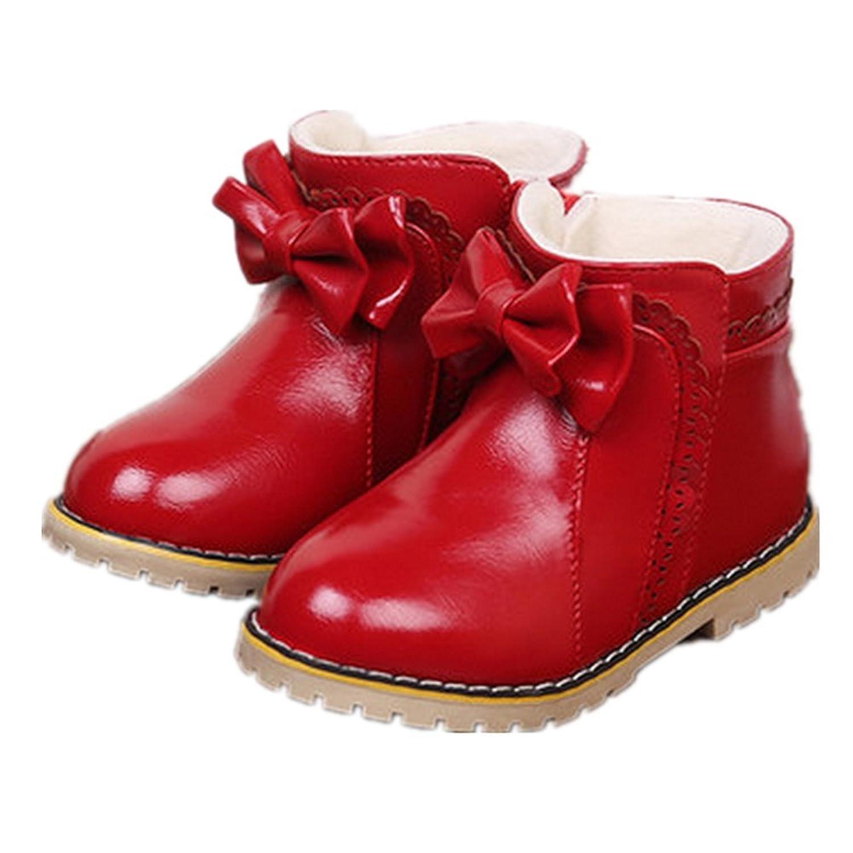 Schöne Bow Winter warm Anti-Rutsch PU Stiefel snow boots/Schneestiefel Kinder-Schneeschuhe Jungen Stiefel Mädchenbaumwollstiefel Kinder warmen Baumwollstiefel Fashion Kinder Schuhe günstig