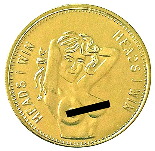 Heads I Win & Tails You Lose Pin Up Lucky Challenge Coin (Heads And Tails Coin compare prices)