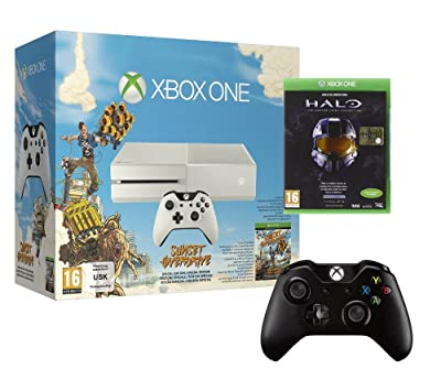 Xbox One Konsole (weiss) inkl. Sunset Overdrive (DLC) + Halo Masterchief Collection + 2. Controller für 398,89€ inkl. VSK
