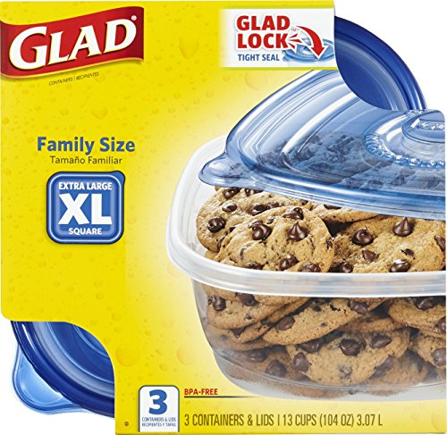 Glad Food Storage Containers Family Size 104 Ounce 3