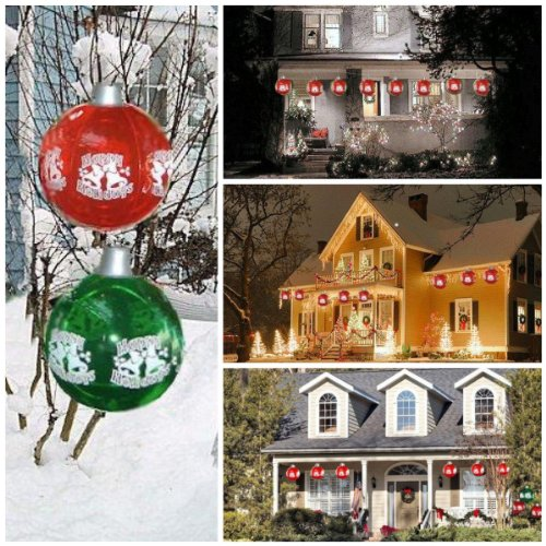 Big Inflatable Christmas Ornaments - SET of 12