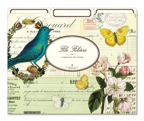 Cavallini File Folders Flora & Fauna Folders