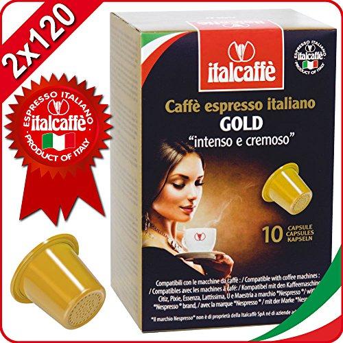 Get 2 x 120 Italcaffe Gold Coffee Pods Capsules, Nespresso Compatible by Italcaffè S.p.A.