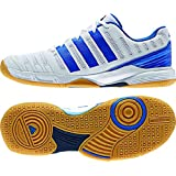 Adidas Men's Essence 11 Indoor Shoe-White/Bright Royal/Collegiate Navy