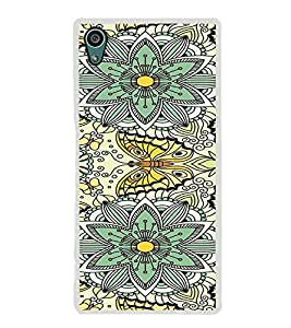 ifasho Animated Pattern colrful flower and butterfly Back Case Cover for Sony Xperia Z5