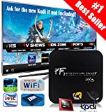 2016 New Model (Life Span Doubled) Pigflytech MX3+ plus Quad Core 2GB/8GB/4K/S812 Android TV Box & Game Palyer with Kodi 15.2 Fully Unlocked Internet Streaming Media Player