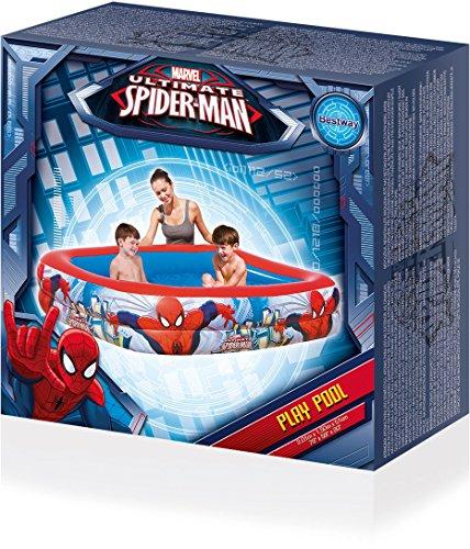 Colorbaby piscina hinchable rectangular de spiderman for Piscina hinchable rectangular