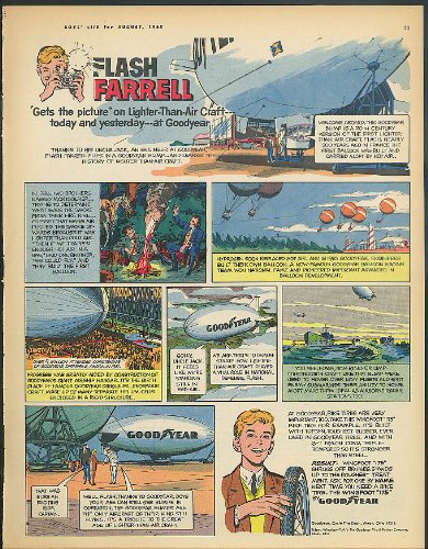 Flash Farrell gets the picture Goodyear Blimp ad 1965