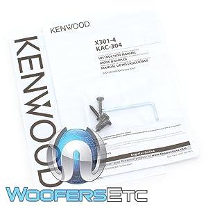 Kenwood Excelon X301-4 4-Channel Car Amplifier (Color: BLACK)