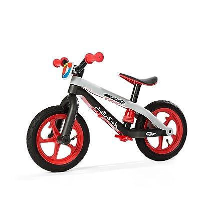 Chillafish BMXie Enfant Vélo de marche pour enfants Vélo sans pédales Scooter Lightweight Bicycle de balance BMX Rouge Noir