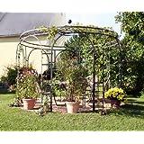 Gartenlaube, Garten Pavillon, Rosenpavillon, Pavillon Eisen, Pavillon Metall Rund Holland Ø 350 cm (Schwarz Bergolin)