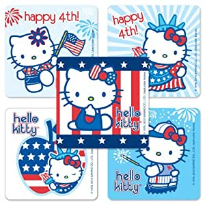 Hello kitty fourth of july stickers 75 per for Hello kitty 4th of july coloring pages