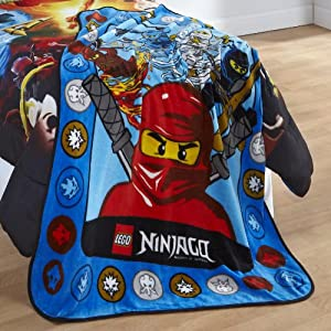 Lego Throw Pillow And Blanket Set : Amazon.com: Lego Ninjago Ninja Masters Throw Blanket: Toys & Games