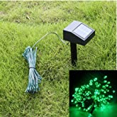 AGPtek® 35ft 60 LED Solar String Fairy Lights Green Outdoor Garden Xmas