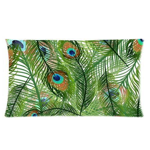Peacock Print Bedding Set front-132839
