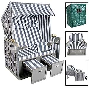 tectake zweisitzer strandkorb premium. Black Bedroom Furniture Sets. Home Design Ideas