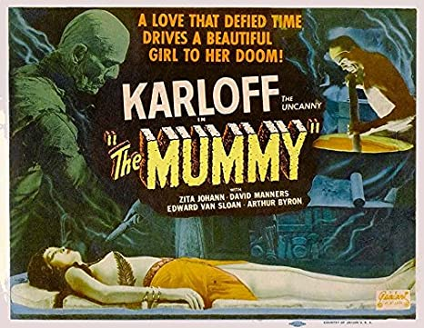 The Mummy, 1932 Vintage Horror Movie Reproduction Rolled Canvas Print 30x24 in.