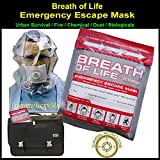 Emergency Escape Mask - Breath-Of-Life -- URBAN SURVIVAL / FIRE / CHEMICAL / DUST / BIOLOGICALS