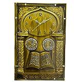 GATTS Green High grade Plastic Wall Clock for Muslim Home & Decoration 786