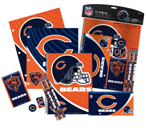 Chicago Bears 11 Piece Stationery Set - 2 Pack
