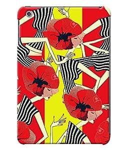 Fuson Girls Pattern Back Case Cover for APPLE IPAD MINI 3 - D3914