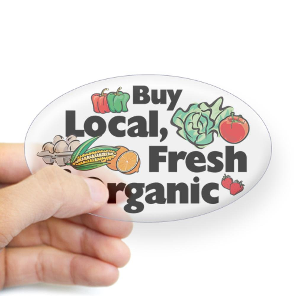 Buy Local, Fresh and Organic Sticker