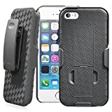 Minisuit Clipster Kick Stand Holster Case + Belt Clip for iPhone 5/5S (Black)