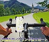 [A-WORKS] iPhone スマートフォン 多機種対応 自転車マウント スマホ固定 360度回転 (ブラック)オリジナル保証書付き