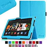 """Fintie Kindle Fire HDX 8.9 Folio Case Slim Fit Leather Cover (will fit Amazon Kindle Fire HDX 8.9"""" Tablet 2014 4th Generation and 2013 3rd Generation) - Blue"""