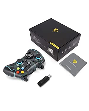 EasySMX ESM-9013 2.4G Wireless Game Controller Joysticks Dual Vibration Turbo for PS3/Android Phone Tablet/Window PC (Camouflage) (Camouflage) (Color: Camouflage)