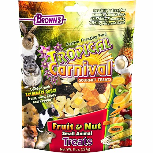 Brown's Tropical Carnival Fruit & Nut Small Animal Treats 61IMErDt8ZL hamster cages Hamster Cages | Toys | Balls | Treats | Bedding 61IMErDt8ZL