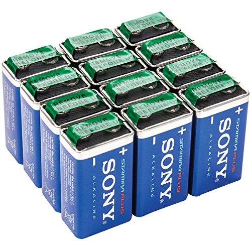 SONY S9V-12BULK Stamina Plus Alkaline Bulk Batteries 9V, 12 Pack