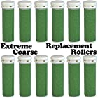 Extreme Coarse Micro Mineral Emjoi Micro-Pedi Compatible Replacement Rollers for Extremely Rough and Tough Calluses (12 pack)