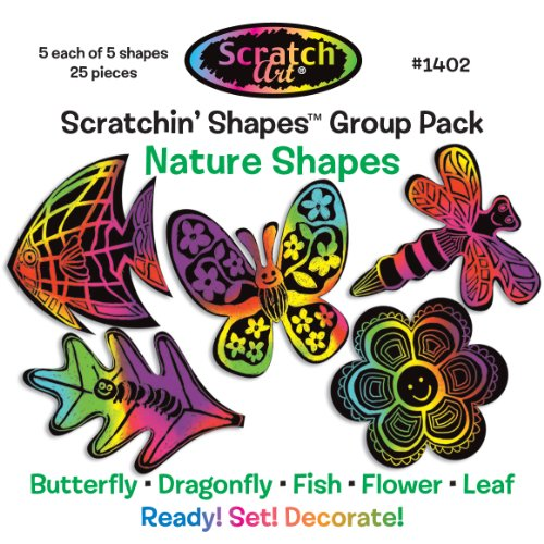 Melissa & Doug Scratchin' Shapes - Nature Group Pack