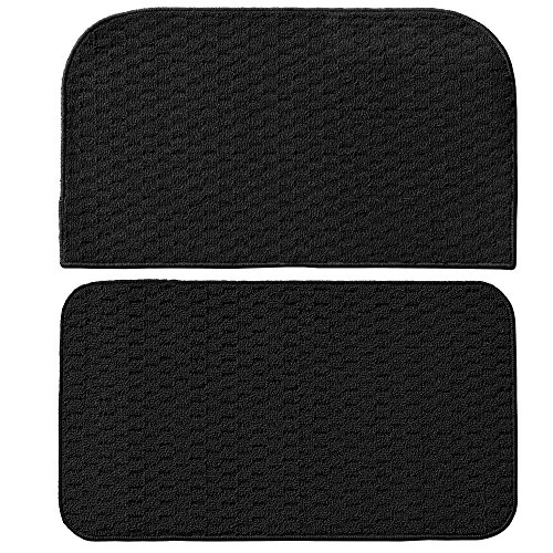 Garland Rug Town Square 2-Piece Kitchen Rug Set, 18-Inch By 28-Inch, Black