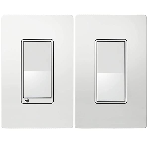TOPGREENER Smart Wi-Fi Light Switch 3-Way Kit, Includes Wi-Fi Switch/Decorator Switch, Control Lighting Anywhere, NEUTRAL Wire Required, No Hub Required, Compatible with Alexa/Google Assistant (Color: White Smart Switch 3-Way Kit, Tamaño: Wi-Fi Light Switch Kit)