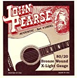 John Pearse 100XL 80/20 Bronze Acoustic Guitar Strings (Standard)
