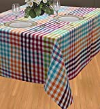 ELAN Cotton Moroccon theme based table cloth size 150x150cm - 4 Seater (Multi Colour)