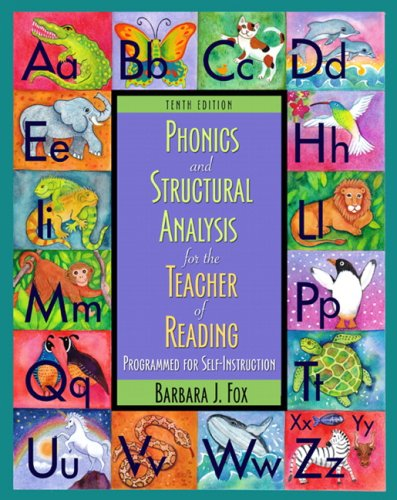 Phonics and Structural Analysis for the Teacher of...