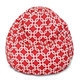 Majestic Home Goods Red Links Small Classic Bean Bag
