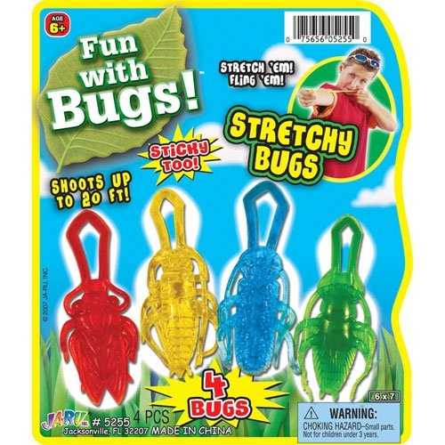 Stretchy Flying Insects - 4 Pack - 1