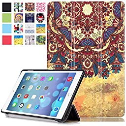 iPad Pro 9.7 Case, Dteck(TM) Ultra Thin Lightweight Folio Stand Leather Case with Auto Sleep/ Wake Feature Cover Smart Shell for Apple iPad Pro 9.7 inch 2016 Version, Tribal Chic