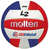 Molten Premium Competition L2 Volleyball, NFHS Approved (Color: Red/White/Blue, Tamaño: Official Size)