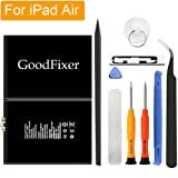 GoodFixer Replacement Battery Compatible with Apple iPad Air/iPad 5, Complete Repair Tools Kit, Adhesive Strip, 0 Cycle 8827mAh Li-ion Replacement Battery [365 Days Warranty]